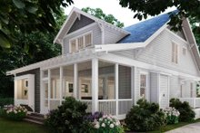 House Plan Design - Craftsman Exterior - Rear Elevation Plan #1079-1