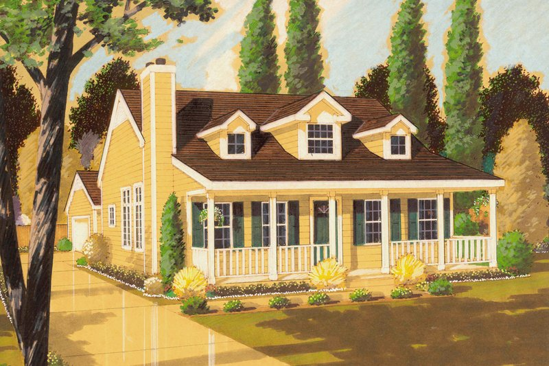 Country Exterior - Front Elevation Plan #3-333