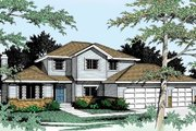 Traditional Style House Plan - 3 Beds 3 Baths 1922 Sq/Ft Plan #92-205 Exterior - Front Elevation