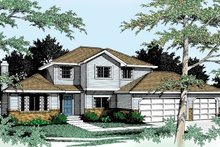 Traditional Exterior - Front Elevation Plan #92-205