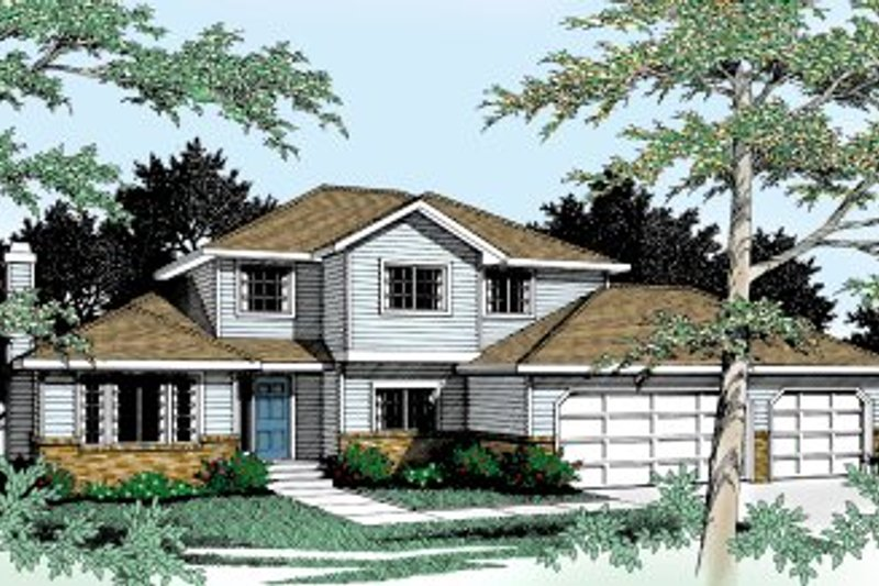 Traditional Exterior - Front Elevation Plan #92-205 - Houseplans.com
