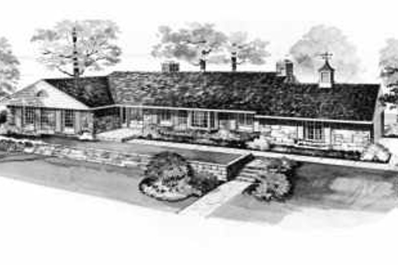 Architectural House Design - Ranch Exterior - Front Elevation Plan #72-359