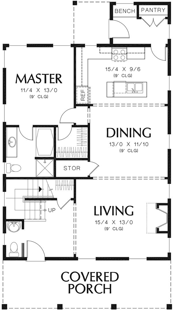 Beach Floor Plan - Main Floor Plan Plan #48-974