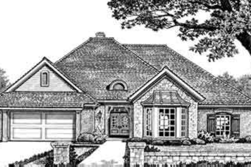 Traditional Style House Plan - 3 Beds 2.5 Baths 2470 Sq/Ft Plan #310-256 Exterior - Front Elevation