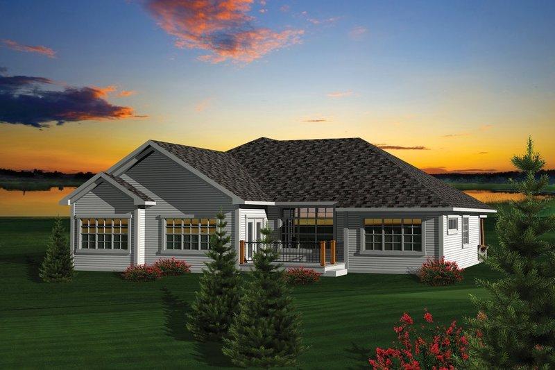 Craftsman Exterior - Rear Elevation Plan #70-1087 - Houseplans.com
