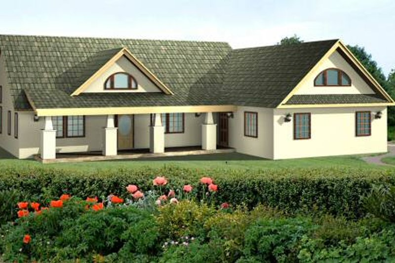 Exterior - Front Elevation Plan #117-564 - Houseplans.com