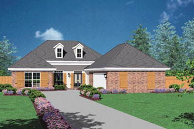 Traditional Exterior - Front Elevation Plan #36-179 - Houseplans.com
