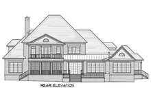 Dream House Plan - Traditional Exterior - Rear Elevation Plan #1054-22