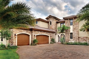 Mediterranean Exterior - Front Elevation Plan #930-21