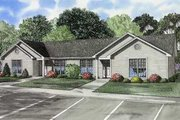 Ranch Style House Plan - 3 Beds 1 Baths 1860 Sq/Ft Plan #17-616 Exterior - Front Elevation