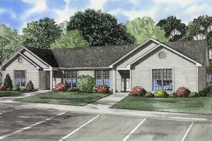 Ranch Exterior - Front Elevation Plan #17-616
