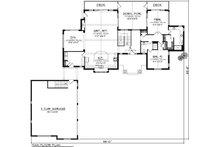 Ranch Floor Plan - Main Floor Plan Plan #70-1137