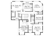 Prairie Style House Plan - 5 Beds 3.5 Baths 4093 Sq/Ft Plan #509-18 Floor Plan - Upper Floor Plan
