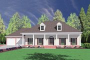 Southern Style House Plan - 4 Beds 2.5 Baths 2157 Sq/Ft Plan #36-196 Exterior - Front Elevation