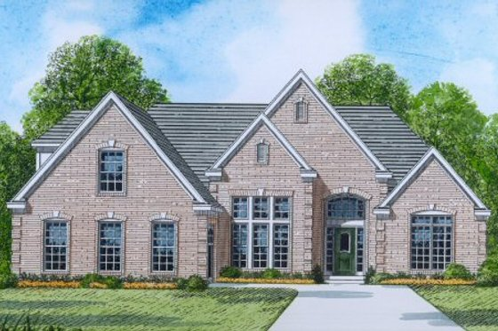 Traditional Exterior - Front Elevation Plan #424-320