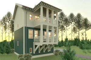 Craftsman Exterior - Front Elevation Plan #926-1