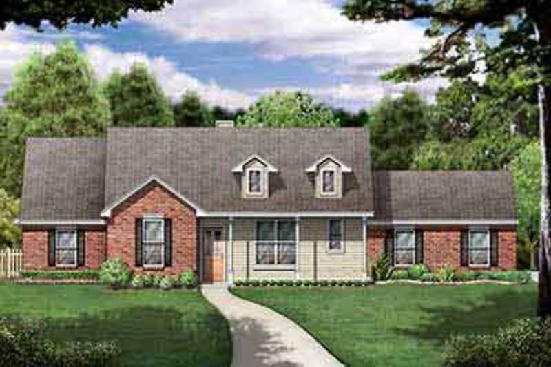 Dream House Plan - Traditional Exterior - Front Elevation Plan #84-228