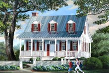 Country Exterior - Front Elevation Plan #137-264