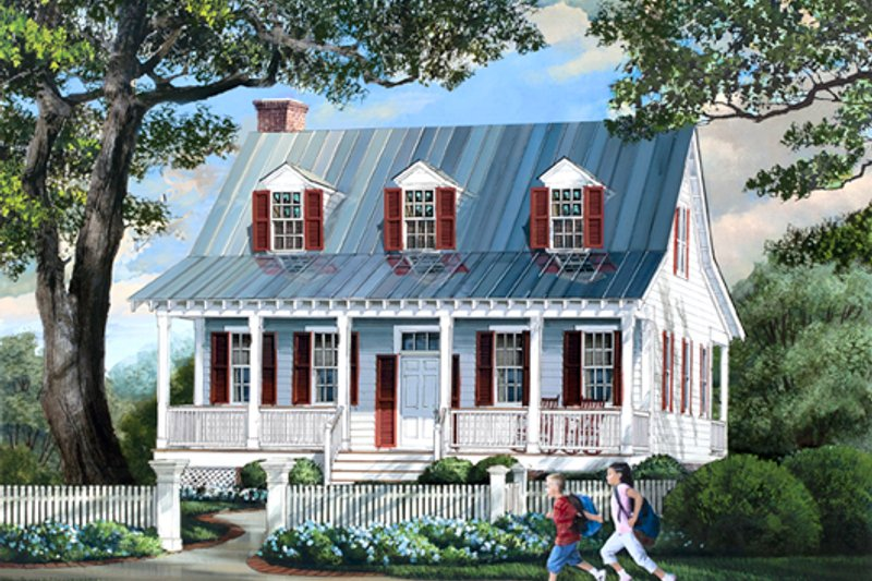 Country Style House Plan - 3 Beds 2.5 Baths 1740 Sq/Ft Plan #137-264 Exterior - Front Elevation