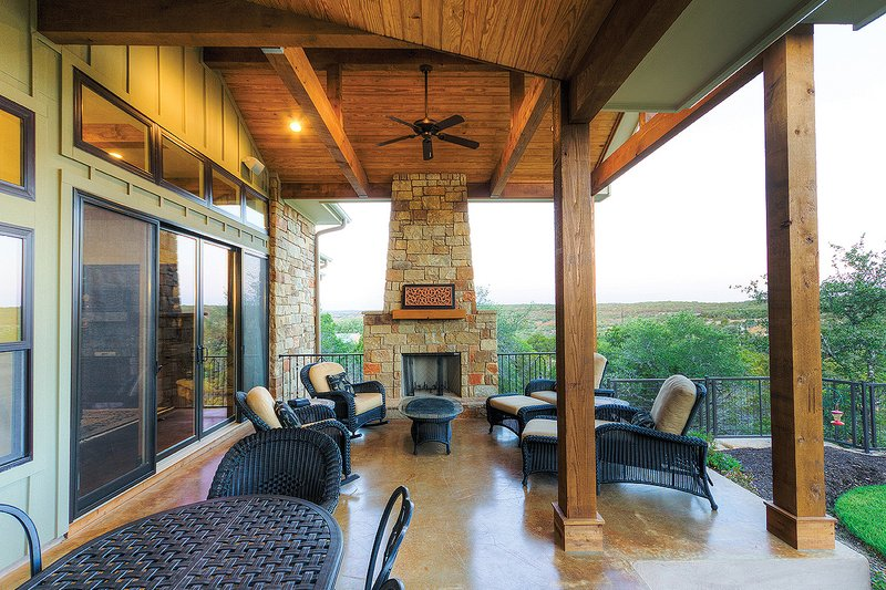 Ranch Exterior - Outdoor Living Plan #935-6 - Houseplans.com
