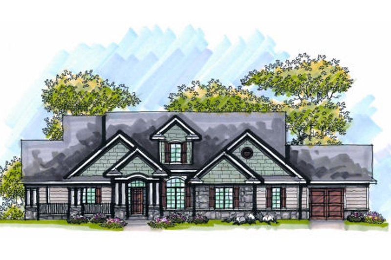 Dream House Plan - Traditional Exterior - Front Elevation Plan #70-1007