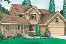 Home Plan - Traditional Exterior - Front Elevation Plan #20-269