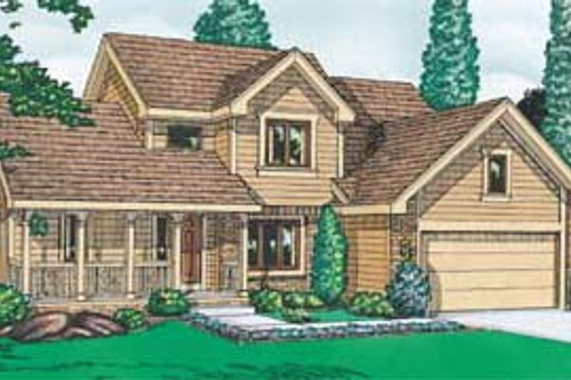 Traditional Exterior - Front Elevation Plan #20-269 - Houseplans.com