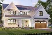 Farmhouse Style House Plan - 3 Beds 2.5 Baths 2657 Sq/Ft Plan #51-1167 Exterior - Front Elevation