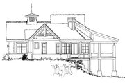 Country Style House Plan - 3 Beds 2.5 Baths 2044 Sq/Ft Plan #942-24 Exterior - Other Elevation