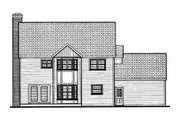 Classical Style House Plan - 4 Beds 2.5 Baths 2261 Sq/Ft Plan #3-185 Exterior - Rear Elevation