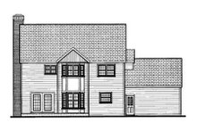 Classical Exterior - Rear Elevation Plan #3-185