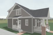 Craftsman Style House Plan - 3 Beds 2.5 Baths 2071 Sq/Ft Plan #461-51 Exterior - Other Elevation