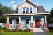 House Plan Design - Craftsman Exterior - Front Elevation Plan #461-75