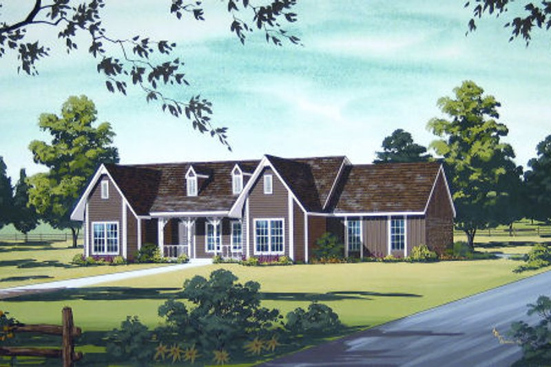 Country Exterior - Other Elevation Plan #45-326 - Houseplans.com