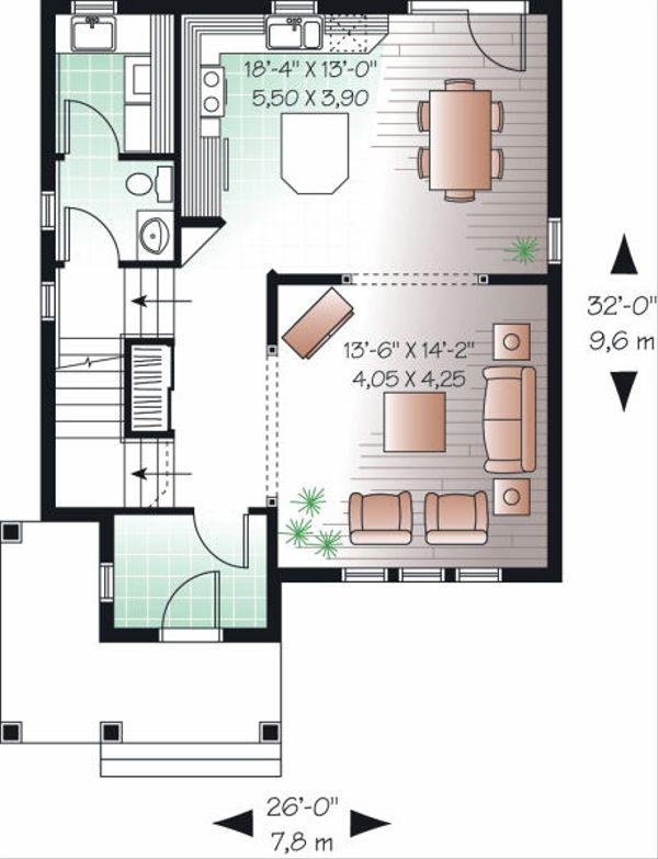 Traditional Floor Plan - Main Floor Plan Plan #23-740