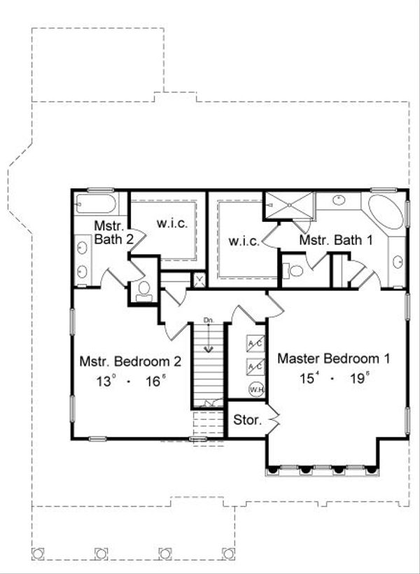 European Floor Plan - Upper Floor Plan Plan #417-284