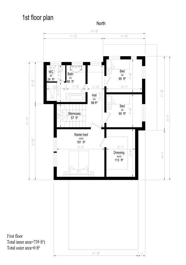 Modern Floor Plan - Upper Floor Plan #549-13