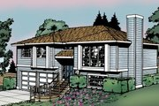 Traditional Style House Plan - 3 Beds 3 Baths 1143 Sq/Ft Plan #87-501 Exterior - Front Elevation