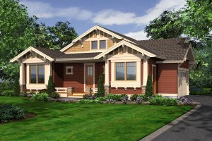 Craftsman Exterior - Front Elevation Plan #132-197