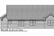 Traditional Style House Plan - 3 Beds 2 Baths 1342 Sq/Ft Plan #70-114 Exterior - Rear Elevation