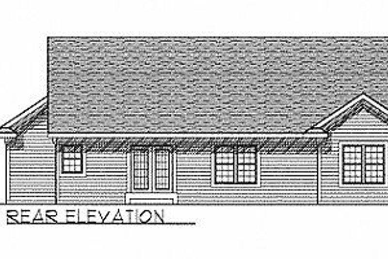 Traditional Exterior - Rear Elevation Plan #70-114 - Houseplans.com