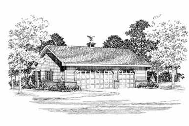 House Blueprint - Traditional Exterior - Front Elevation Plan #72-254