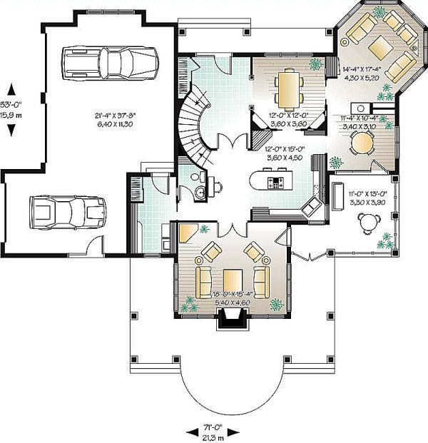 Traditional Floor Plan - Main Floor Plan Plan #23-584