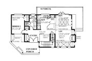 Cabin Style House Plan - 2 Beds 2 Baths 1417 Sq/Ft Plan #118-171 Floor Plan - Main Floor