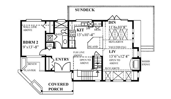 Cabin Floor Plan - Main Floor Plan Plan #118-171