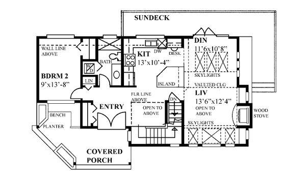 Home Plan - Cabin Floor Plan - Main Floor Plan #118-171