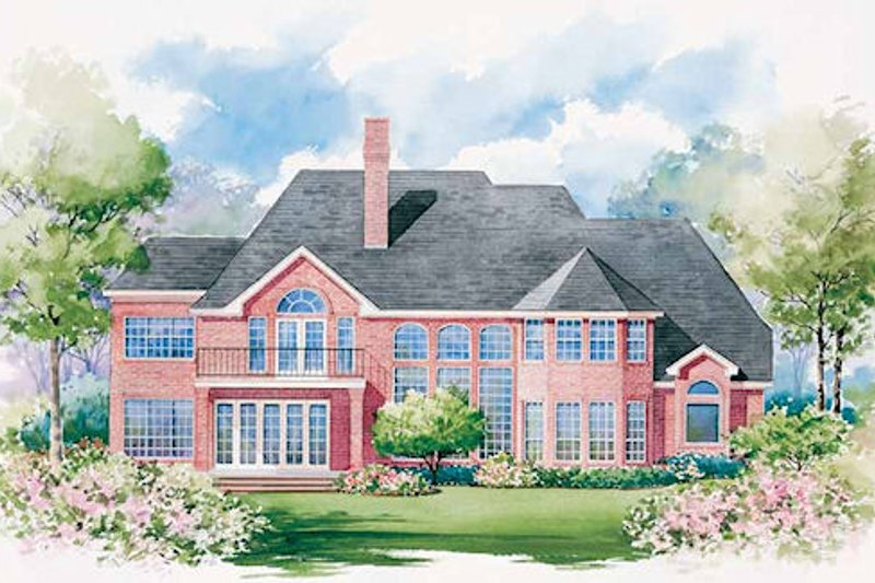 European Exterior - Rear Elevation Plan #20-1173 - Houseplans.com