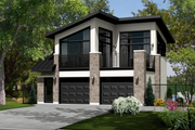 Contemporary Style House Plan - 1 Beds 1 Baths 490 Sq/Ft Plan #25-4753 Exterior - Front Elevation