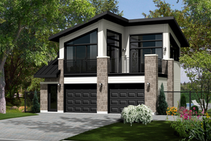Contemporary Exterior - Front Elevation Plan #25-4753