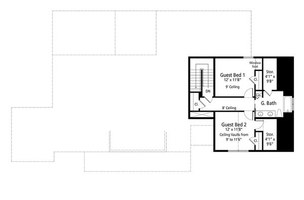 House Blueprint - Farmhouse Floor Plan - Upper Floor Plan #938-109